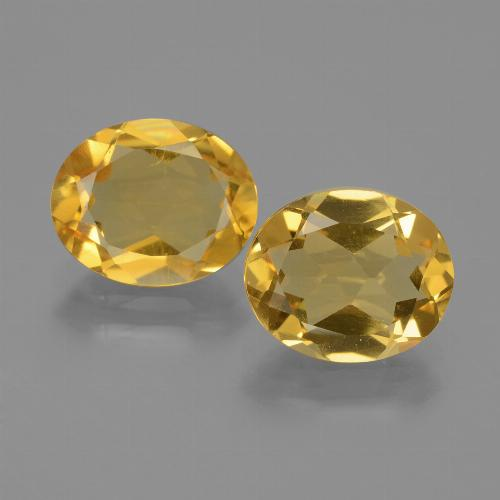 Yellow Citrine Gem - 2.1ct Oval Facet (ID: 435372)