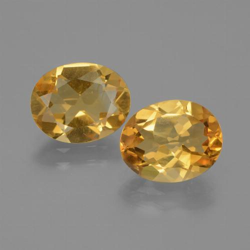 Dark Orange-Gold Citrine Gem - 1.9ct Oval Facet (ID: 435373)