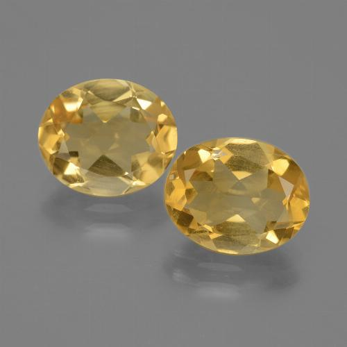 Yellow Golden Citrine Gem - 2.1ct Oval Facet (ID: 435380)