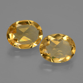Yellow Golden Citrine Gem - 2ct Oval Facet (ID: 435429)