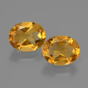 Deep Golden Orange Citrine Gem - 2.3ct Oval Facet (ID: 435436)