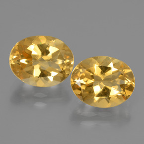 Yellow Golden Citrine Gem - 2.4ct Oval Facet (ID: 435438)