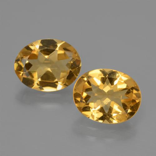 Yellow Golden Citrine Gem - 2.1ct Oval Facet (ID: 435440)