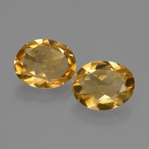 Yellow Citrine Gem - 1.9ct Oval Facet (ID: 435506)
