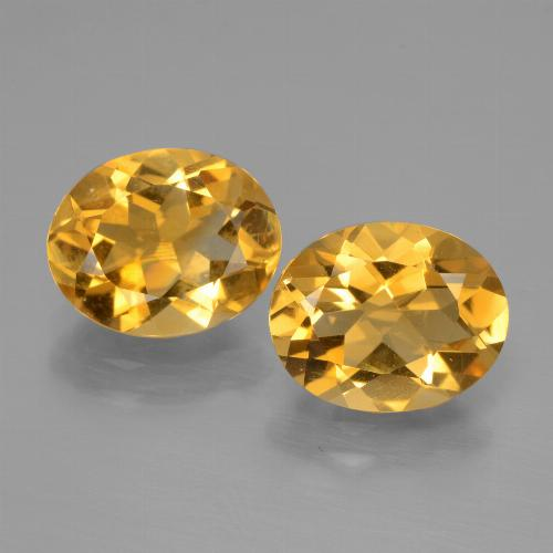 Yellow Golden Citrine Gem - 2.2ct Oval Facet (ID: 435580)
