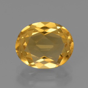 Medium-Dark Golden Citrina Gema - 2.5ct Forma ovalada (ID: 435846)