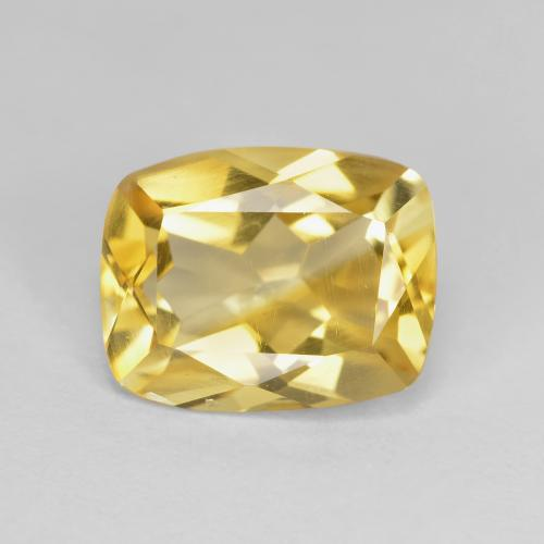 Golden Citrine Gem - 2.5ct Cushion-Cut (ID: 439392)
