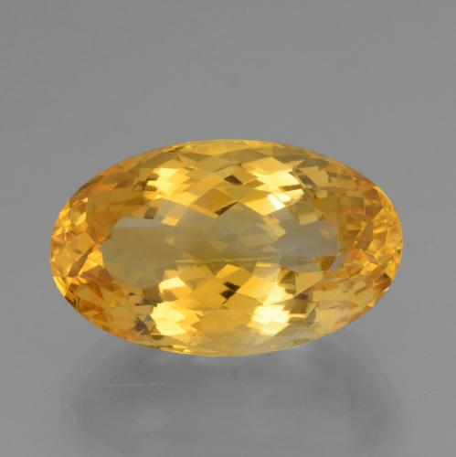 Yellow Golden Citrine Gem - 15.6ct Oval Facet (ID: 443588)