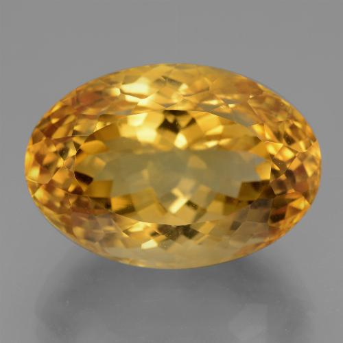 Dark Orange-Gold Citrina Gema - 19ct Forma ovalada (ID: 443637)