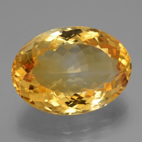 16.4ct Forma ovalada Deep Orange-Gold Citrina Gema (ID: 443638)