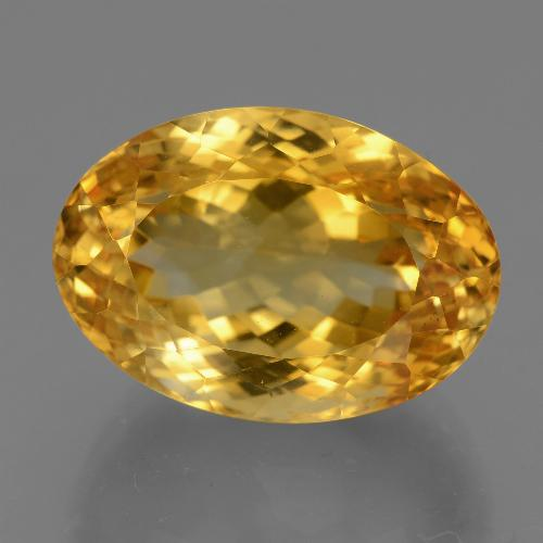 19.7ct وجه بيضاوى Deep Golden Orange سيترين حجر كريم (ID: 443681)