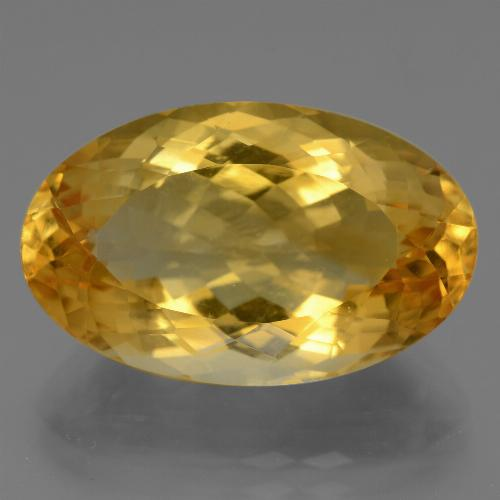 Deep Golden Orange Citrina Gema - 15.9ct Forma ovalada (ID: 443683)