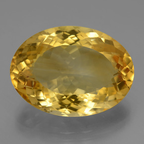 Deep Golden Orange Citrina Gema - 16.2ct Forma ovalada (ID: 443686)