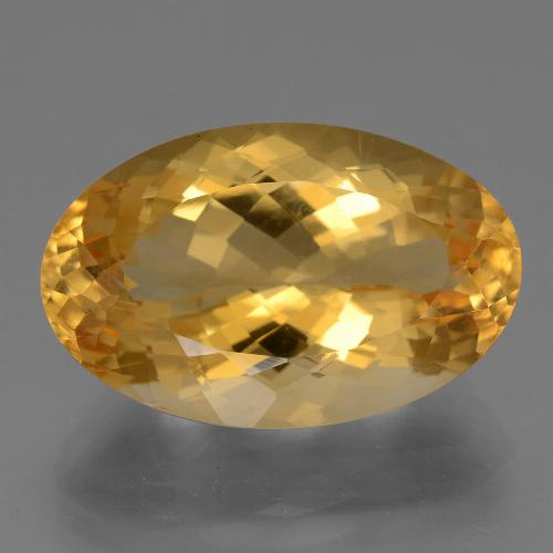 14.2ct وجه بيضاوى Deep Golden Orange سيترين حجر كريم (ID: 443751)