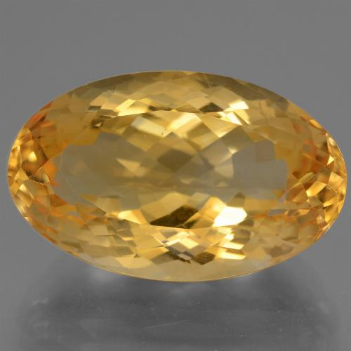 14.9ct وجه بيضاوى Deep Golden Orange سيترين حجر كريم (ID: 443755)
