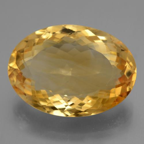 16.8ct وجه بيضاوى Deep Golden Orange سيترين حجر كريم (ID: 443756)