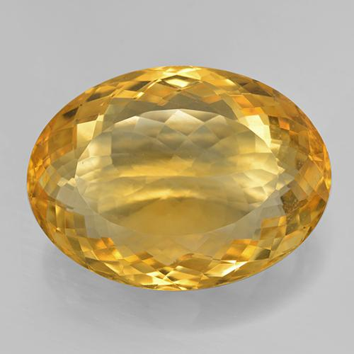 25.08 ct Oval Portugiesischer Schliff Dark Golden Citrin Edelstein 23.18 mm x 17.1 mm (Product ID: 443855)