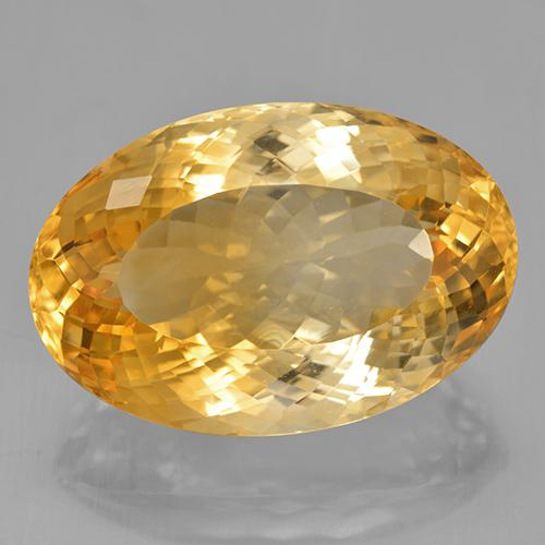 Yellow Golden Citrine Gem - 34.5ct Oval Portuguese-Cut (ID: 443858)