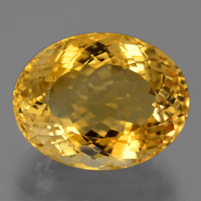 20.5ct Oval Portuguese-Cut Yellow Golden Citrine Gem (ID: 444019)