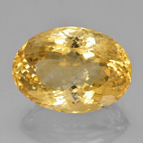 25.71 ct Oval Portuguese-Cut Golden Citrine Gemstone 22.38 mm x 16.1 mm (Product ID: 444028)