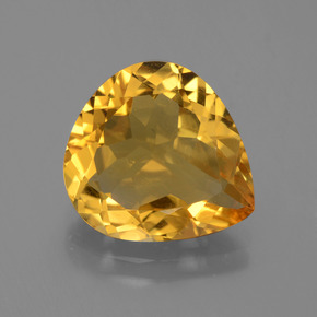 4.2ct Pear Facet Yellow Golden Citrine Gem (ID: 445079)