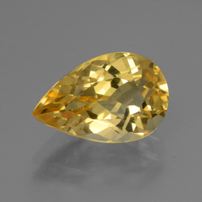 3ct Pear Facet Yellow Golden Citrine Gem (ID: 445287)