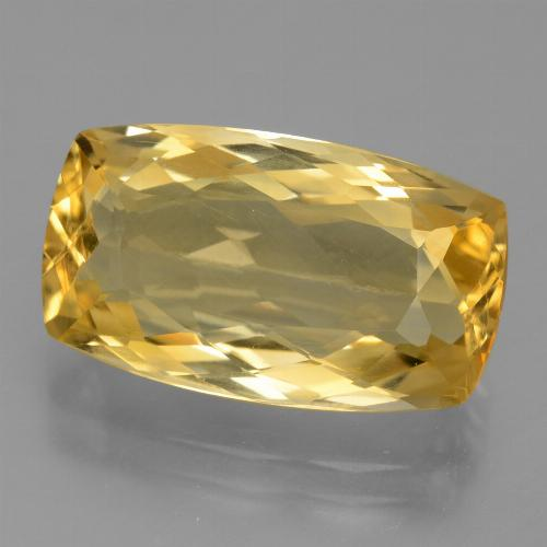 Medium-Dark Golden Citrina Gema - 7.2ct Corte en Forma Cojín (ID: 445370)