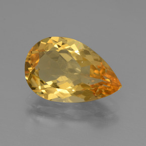 3.3ct Pear Facet Yellow Golden Citrine Gem (ID: 445544)