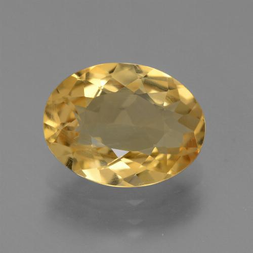 Medium-Dark Golden Citrina Gema - 3ct Forma ovalada (ID: 445742)