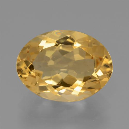 Light Orange-Gold Citrine Gem - 3.6ct Oval Facet (ID: 445862)