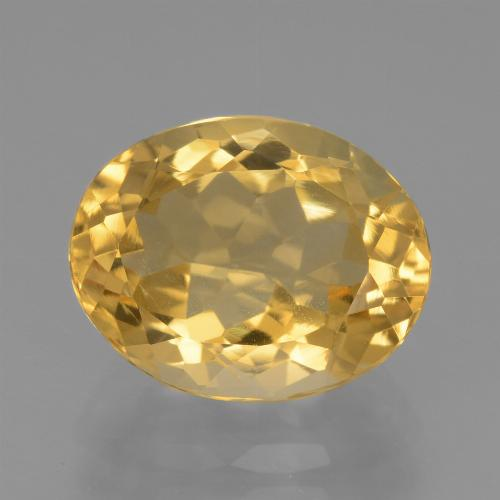 Medium Gold Citrina Gema - 4.2ct Forma ovalada (ID: 445865)