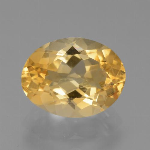 Light Orange-Gold Citrina Gema - 4.3ct Forma ovalada (ID: 445867)