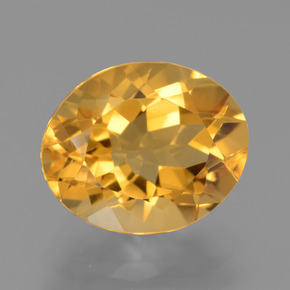 thumb image of 3.7ct Oval Facet Yellow Golden Citrine (ID: 445869)