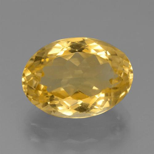 Medium Gold Citrino Gem - 6.5ct Ovale sfaccettato (ID: 445901)