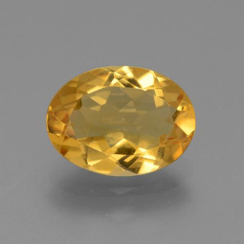 Dark Golden Citrine Gem - 2.3ct Oval Facet (ID: 445902)