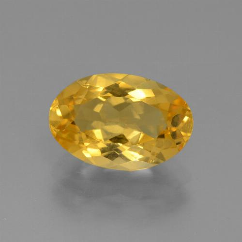 Deep Golden Orange Citrina Gema - 2.2ct Forma ovalada (ID: 445907)