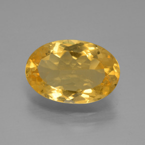 Bright Gold Citrine Gem - 2.6ct Oval Facet (ID: 445908)