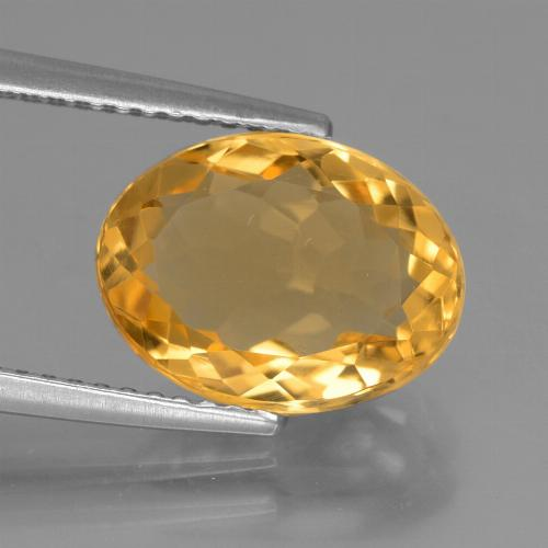 Deep Golden Orange Citrina Gema - 3.5ct Forma ovalada (ID: 445944)