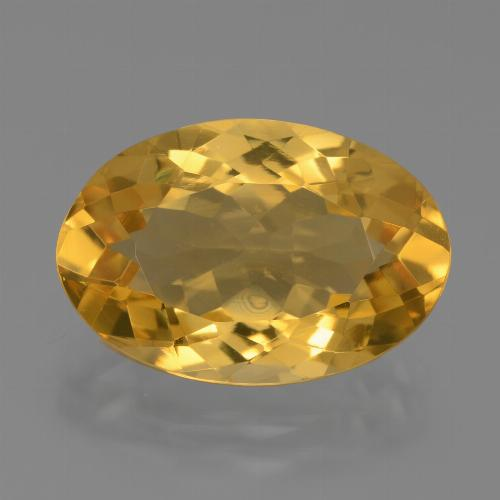 Deep Golden Orange Citrina Gema - 6.2ct Forma ovalada (ID: 446021)