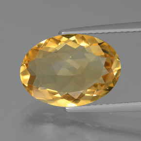 Medium-Dark Golden Citrina Gema - 4.4ct Forma ovalada (ID: 446057)