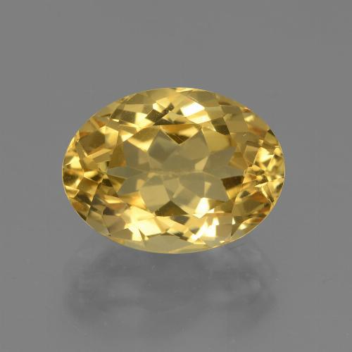 Medium Golden Citrina Gema - 4.4ct Forma ovalada (ID: 446063)
