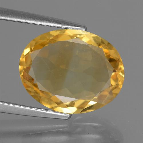 Bright Gold Citrine Gem - 3.8ct Oval Facet (ID: 446128)