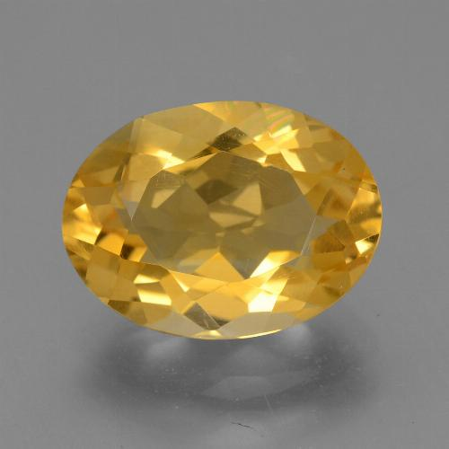 Dark Golden Citrine Gem - 4ct Oval Facet (ID: 446129)