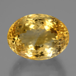 18.6ct Oval Facet Yellow Golden Citrine Gem (ID: 446383)