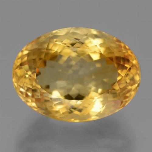 18.16 ct وجه بيضاوى Deep Golden Orange سيترين حجر كريم 19.10 mm x 14.1 mm (صورة A)
