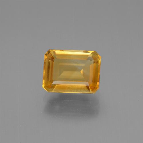 Orange-Gold Citrine Gem - 1.7ct Octagon Step Cut (ID: 446691)