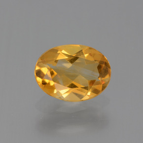 1.1ct Oval Facet Yellow Golden Citrine Gem (ID: 447071)