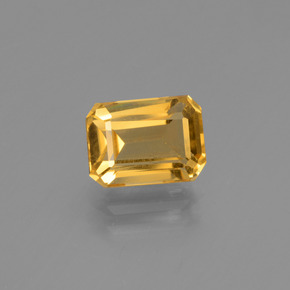 Yellow Golden Citrine Gem - 1.7ct Octagon Step Cut (ID: 447250)