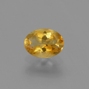 1.1ct Oval Facet Yellow Golden Citrine Gem (ID: 447261)