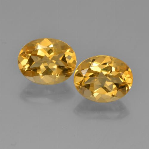 Yellow Citrine Gem - 2.4ct Oval Facet (ID: 449606)